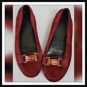 Juicy Couture Red Suede Loafers